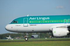 Amsterdam los Países Bajos - 3 de mayo de 2018: EI-DVJ Aer Lingus Airbus Fotografía de archivo