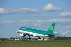 Amsterdam los Países Bajos - 3 de mayo de 2018: EI-DVJ Aer Lingus Airbus Imagen de archivo libre de regalías