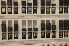 Amsterdam, los Países Bajos, el 5 de agosto de 2015: sombreador de ojos en la exhibición Fotos de archivo libres de regalías