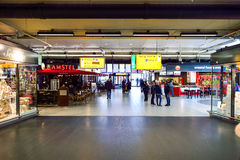 Amsterdam lotnisko Schiphol Zdjęcia Royalty Free