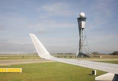 Amsterdam lotnisko Schiphol samolot Holandie Zdjęcia Royalty Free