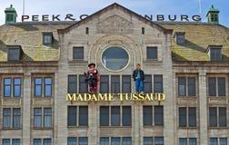 Amsterdam - Madame Tussauds wax museum. AMSTERDAM, NETHERLANDS - MAY 30: Madame Tussauds wax museum closeup on May 30, 2014 in Amsterdam, Netherlands. It is a Stock Photo
