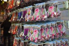 AMSTERDAM 13 MAGGIO: Generi differenti di lampadine del tulipano Fotografia Stock Libera da Diritti