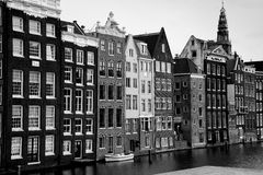Amsterdam mansions alongside the canal Royalty Free Stock Photos