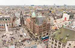 AMSTERDAM - MARCH 30, 2015: City panoramic view from a high vant Royalty Free Stock Images