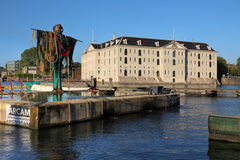 amsterdam maritim museumNederländerna Arkivbilder