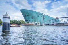 Amsterdam med fartyget Arkivfoto