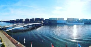 Amsterdam Meerblick stock image