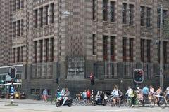 Amsterdam miasta archiwa obraz royalty free