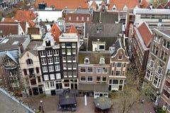 Amsterdam miasta sąsiedztwo Zdjęcia Royalty Free