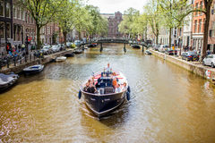 Amsterdam miasta widok Obraz Royalty Free