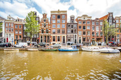 Amsterdam miasta widok Obrazy Stock