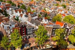 Amsterdam miasta widok od Westerkerk, Holandia, holandie Zdjęcie Royalty Free