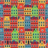 Amsterdam mieści bezszwowego wzór Zdjęcie Royalty Free