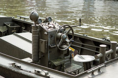 Amsterdam military boat Royalty Free Stock Photography