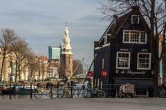 Amsterdam - Montelbaanstoren royalty-vrije stock afbeelding