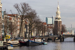 The Amsterdam Montelbaanstoren Royalty Free Stock Images