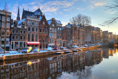Amsterdam morning canal Stock Photography