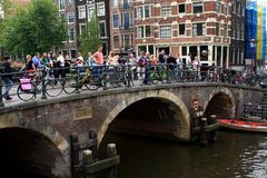 Amsterdam most holandie Fotografia Royalty Free