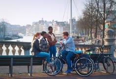Amsterdam multicultural imágenes de archivo libres de regalías
