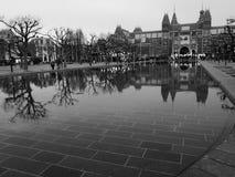 Amsterdam museumplein Fotografering för Bildbyråer