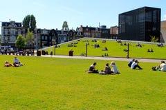 Amsterdam Museumplein, die Niederlande Stockfoto