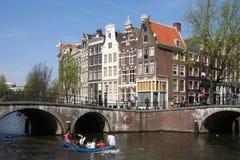 amsterdam na łodzi zdjęcia stock
