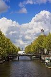 Amsterdam na słonecznym dniu obrazy royalty free