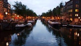 Amsterdam nach Sonnenuntergang Lizenzfreies Stockbild