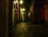 amsterdam natt Arkivbilder