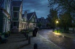 Amsterdam natt Arkivfoto
