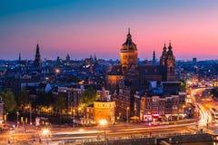 Amsterdam Nederländerna Arkivfoto