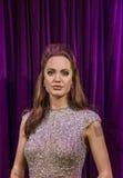 AMSTERDAM NEDERLÄNDERNA - APRIL 25, 2017: Angelina Jolie vaxstatistik Royaltyfria Foton