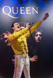 AMSTERDAM NEDERLÄNDERNA - APRIL 25, 2017: Freddie Mercury vaxsta Arkivbild