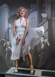AMSTERDAM NEDERLÄNDERNA - APRIL 25, 2017: Marilyn Monroe vaxstatistik Arkivfoton