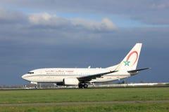 Amsterdam Nederländerna - April 7th, 2017: CN-RNL Royal Air Maroc Royaltyfria Foton