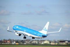 Amsterdam Nederländerna - April 7th, 2017: Flygbolag för PH-BGB KLM Royal Dutch Fotografering för Bildbyråer