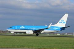 Amsterdam Nederländerna - April 7th, 2017: Flygbolag för PH-BGT KLM Royal Dutch Royaltyfri Foto