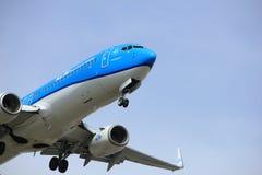 Amsterdam Nederländerna - April, 7th 2018: Flygbolag för PH-BXA KLM Royal Dutch Arkivfoto