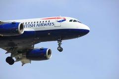 Amsterdam Nederländerna - April, 7th 2018: G-EUPS British Airways Royaltyfri Bild