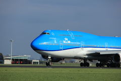 Amsterdam Nederländerna - April 7th, 2017: PH-BFT KLM Boeing 747 Royaltyfria Bilder