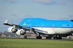 Amsterdam Nederländerna - April 7th, 2017: PH-BFT KLM Boeing 747 Arkivfoto