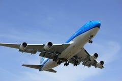 Amsterdam Nederländerna - April, 7th 2018: PH-BFV KLM Boeing 747-400M Royaltyfri Fotografi