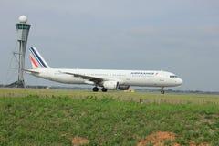 Amsterdam Nederländerna - Augusti 10 2015: F-GTAM Air France A Arkivbild