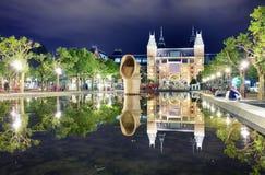 Amsterdam Nederländerna - Augusti 15 2017: Rijksmuseumen Amsterd arkivbild