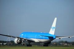 Amsterdam Nederländerna - Augusti, 18th 2016: PH-BQN KLM Boeing 777 Royaltyfri Foto
