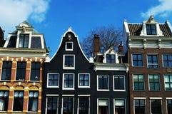 Amsterdam, Nederländerna, Europa och färgrika byggnader Arkivbilder