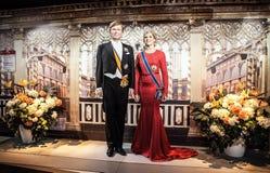 AMSTERDAM NEDERLÄNDERNA - JANUARI 21: Vaxa berömda personer av museet för madamen Tussaud på JANUARI 21, 2015 i Amsterdam, Nederl Royaltyfri Foto