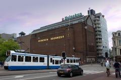 Amsterdam Nederländerna - Juli 30, 2011: Ölfabriksmuseum i A arkivfoton