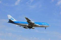 Amsterdam Nederländerna, Juli, 21st 2016: PH-BFD KLM Boeing 747-406 Arkivbilder